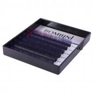 Ресницы Bombini Holi Черно-фиолетовые, 6 линий, изгиб D MIX 8-13 0.10: фото