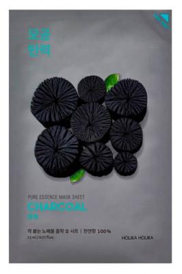 Маская тканевая успокаивающая с углем Holika Holika Pure Essence Mask Sheet Charcoal 23 мл: фото