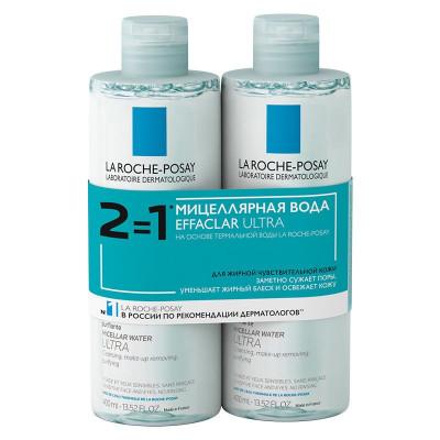 Мицеллярная вода для жирной кожи La Roche-Posay Effaclar Ultra 400 мл*2: фото