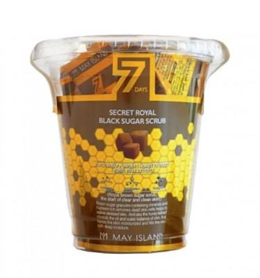 Сахарный скраб для лица May Island 7Days Secret Royal Black Sugar Scrub 3мл*12: фото