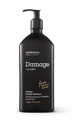 Шампунь для повреждённых волос с киноа AROMATICA Quinoa Protein Shampoo 400мл: фото