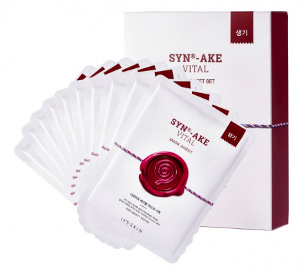 Маска тканевая с пептидом омолаживающая It's Skin SYN®-AKE Synake Vital Mask Sheet 22 г*10 шт: фото