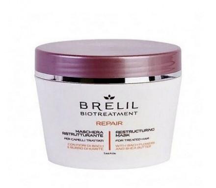 Маска восстанавливающая для волос после химической обработки Brelil Biotreatment Repair 220мл: фото