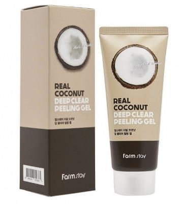 Гель отшелушивающий с экстрактом кокоса FarmStay Real Coconut Deep Clear Peeling Gel 100мл: фото