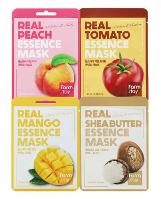 Набор тканевых масок FarmStay Витаминный заряд 23мл*4: фото