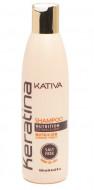 Укрепляющий шампунь с кератином для всех типов волоc Kativa KERATINA 250мл: фото