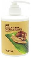 Крем для тела массажный очищающий улиточный DEOPROCE SNAIL CLEAN & WHITE CLEANSING & MASSAGE CREAM 450мл: фото