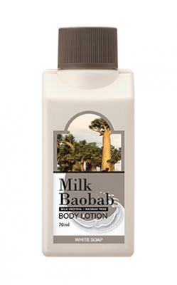 Лосьон для тела с ароматом белого мыла Milk Baobab Body Lotion White Soap Travel Edition 70мл: фото