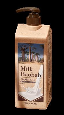 Шампунь с ароматом белого мускуса Milk Baobab Original Shampoo White Musk 1000мл: фото